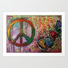 Peace Art Print by Laura Barbosa Art - $17.68