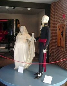 Andrew Jackson's dress uniform and one of Rachel Jackson's finest dresses.
