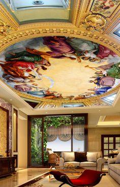 3D People Paint Ceiling WallPaper Murals Wall Print Decal Deco AJ WALLPAPER AU   Home & Garden, Building Materials & DIY, Wallpaper & Accessories   eBay!