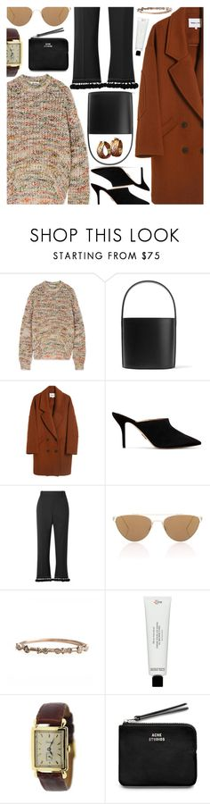 """""""Untitled #7065"""" by amberelb ❤ liked on Polyvore featuring Acne Studios, Staud, Paul Andrew, Marc Jacobs, Oliver Peoples, Frédéric Malle, Cartier and Oscar de la Renta"""