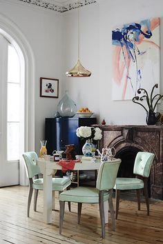 Slide View: 4: Premium Leather Promena Dining Chair