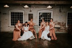 Copper & Greenery Industrial Winter Wedding at The West Mill Derby, Styled by The Vintage House That Could Bronze Wedding Colours, Bronze Wedding Theme, Bronze Wedding Decorations, Copper Wedding, Bronze Bridesmaid Dresses, Asos Bridesmaid Dress, Rose Gold Wedding Dress, Gold Wedding Invitations, Lynch