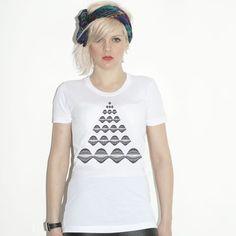 Abstract Pyramid Girls T