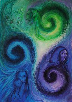 Triple Spiral   Triskele   Triskelion  Celtic symbol celebrating the three stages of women: maid, mother, sage.