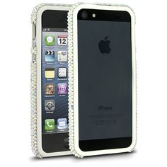 Cellairis Bling Bumper Case for Apple iPhone 5 - Crystal AB/White
