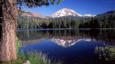 Ultra HD Wallpaper - Lake with mountain view  DOWNLOAD in full UHD Quality for FREE at http://wallpaper.4-free.org  #nature #photography #mountain