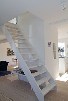 adorable open space, attic stairs  problem nicely resolved