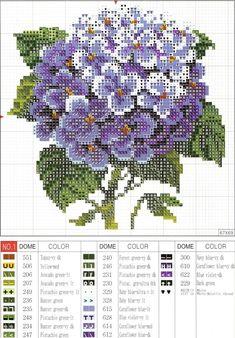 Gallery.ru / Фото #23 - hydrangeas  chart and key