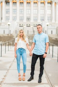 Utah State Capitol Engagement Photography | Tori & Tanner - Abbey Kyhl Country Engagement Pictures, Engagement Photo Outfits, Engagement Photos, Engagement Session, Oval Engagement, Engagement Photography, Wedding Photography, Couple Photography, Travel Photography