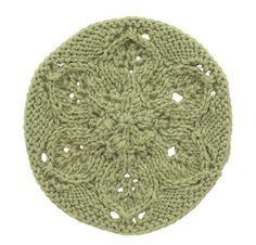 Knit Motif: Leafy Hexagon