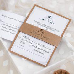 Faire part de mariage d'oiseau en papier bun epais JM703 à partir de 1.7€ faire part de mariage pas cher, sur mesure - joyeuxmariage.fr