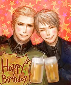 Happy B-day by えりこ*Lotus - Hetalia - Germany / Prussia  - Too cute!