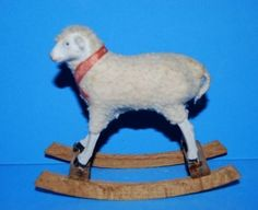 Antique Christmas, Christmas Items, Spring Lambs, Sheep And Lamb, Pull Toy, Antique Stores, Four Legged, Fleas, Pet Toys