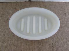 Vintage Weehawken Hoegger, New Jersey Milk Glass Soap Dish by OpenTwentyFourSeven on Etsy