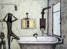bernard buffet, the bathroom, 1947