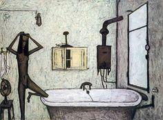 Bernard Buffet // La salle de bain - 1947 // huile sur toile 138 x 188 cm ©ADAGP