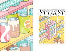 Cover artwork and a full-page editorial illustration for Stylist Magazine!    Instagram | Facebook | Behance