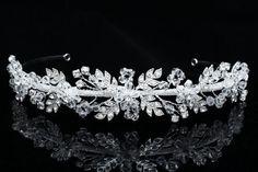 Handmade Rhinestone Crystal Flower Leaf Bridal Wedding Headband Tiara by Venus Jewelry, http://www.amazon.com/dp/B008E0AETU/ref=cm_sw_r_pi_dp_dc06rb0088WMT