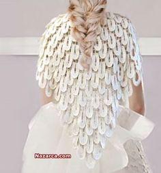 """Örgü Alize Oval Dilimli Gelin Şal Modeli çok beğendiğim Türkçe videolu anlatımı ile Nursel'in Evi Programında anlatılan """"Knit a shawl for bride"""" Oval Halkalı Gelin Şalı için 3 num…"""