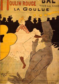 Moulin Rouge: La Goulue, 1891, litografia a quattro colori, Henri de Toulouse-Lautrec. Collezione privata.