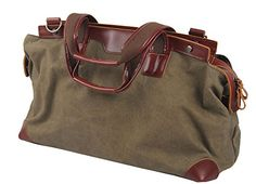 Muchuan Unisex-Adult Canvas Handbag Travel Bag Weekends Bag,Army Green  Top canvas farbic material and genuine leather Fashion,casual and multifunctional Size:55cm*20cm*17cm