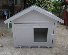Doghouse made of polyurethane panel Dog Houses, Shed, Outdoor Structures, Dogs, Pet Dogs, Dog Kennels, Doggies, Barns, Sheds