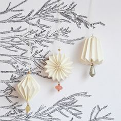 Christmas origami pearl decorations - My Little day