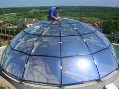 Стеклянная крыша дома: как покрыть кровлю стеклоизолом, стеклянное покрытие для частных домов