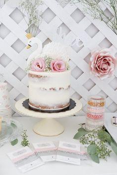 Baby Girl 1st Birthday, Ballerina Birthday, First Birthday Cakes, First Birthday Parties, Birthday Party Themes, Birthday Ideas, Mermaid Birthday, Lake Party, Festa Party