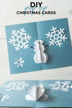 Diy Christmas Cards Pop Up, Christmas Cards Handmade Kids, Diy Holiday Cards, Homemade Christmas Cards, Christmas Card Crafts, Printable Christmas Cards, Christmas Greeting Cards, Christmas Ideas, Diy Cards Pop Up