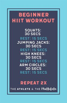 HIIT for beginners can be the best way to keep workouts quick and efficient. HIIT workouts allow you to keep workouts short and burn calories. Do this workout anywhere! Fitness Workouts, Yoga Fitness, At Home Workouts, Fitness Tips, Health Fitness, Cardio Workouts, Workout Diet, Quick Workouts, Basic Workout