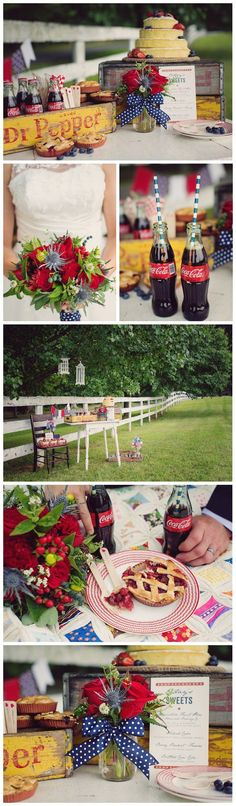 Red, White and Blue Wedding Ideas / http://www.himisspuff.com/red-white-and-blue-4th-of-july-wedding-ideas/
