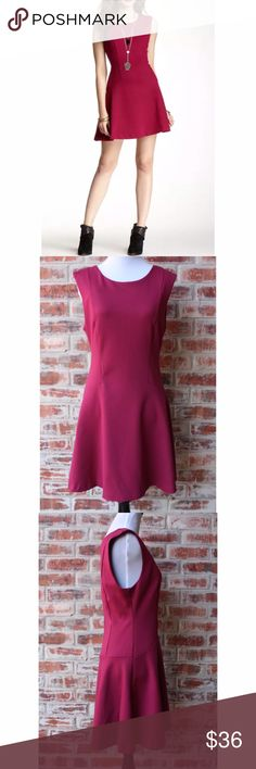 """FREE PEOPLE Magenta Cha Cha Skater Dress Medium This Free People Cha Cha Skater Dress in Magenta is in very good preowned condition and size medium.  There are no rips, stains, fading or flaws.  It measures 16.5"""" across the chest from armpit to armpit, hips are 20.5"""" across the front and length is 32"""". Free People Dresses Mini"""