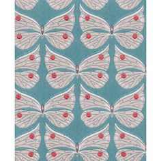 Perhonen wallpaper, turquoise