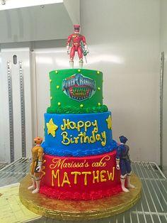 Power rangers birthday cake. Visit us Facebook.com/marissa'scake or www.marissascake.com 5th Birthday Party Ideas, 26th Birthday, Baby Birthday, Power Ranger Cake, Power Ranger Party, Power Rangers Birthday Cake, Adoption Party, Disney Cakes, Cakes For Boys