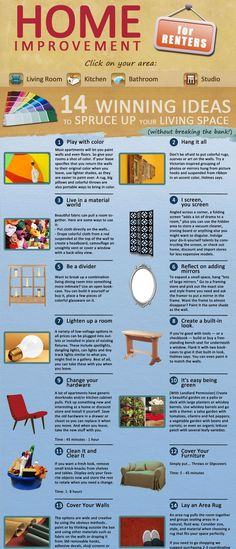 14 winning ideas ....home improvement for renters
