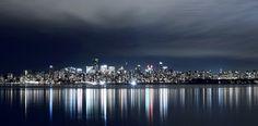 The Vancouver skyline from Jericho beach.  Image by Rob Trendiak via Vancity Buzz.