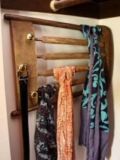 old chair scarf hanger