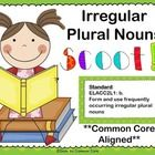 Irregular Plural Nouns Scoot Game aligned to CCGPS standard:   ELACC2L1: b.  Form and use frequently occurring irregular plural nouns    This version o...