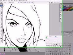 tutorial photoshop cs3 fr illustrator vectorisation & colorisation partie 1 - YouTube