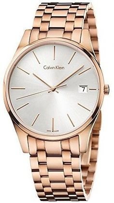 Calvin Klein Time Rose Gold-Tone Mens Watch K4N21646