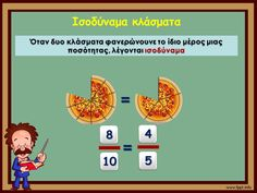 Ισοδύναμα κλάσματα Dyscalculia, Maths, Projects To Try, Teacher, Professor