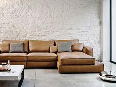 Caresse, Modulares System von sofà, in Stoff oder Leder