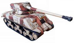 PAPERMAU: Post- WW2`s Tank Sherman M4/FL10 Paper Model In 1/50 Scaleby Dmitry Sotnikov & World Of Tanks