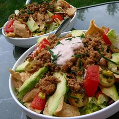 """Quick Turkey Taco SaladI """"The mixed salad greens and fresh herb provided the perfect blend of flavors. """""""