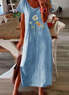 Manga Floral, Dresses For Sale, Summer Dresses, Dresses Online, Vestido Casual, Summer Work, Blouse Dress, Women's Fashion Dresses, Bohemian Style