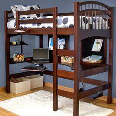 Kids Bedroom Desk Furniture — Home Designs and Style Guest Bedroom Decor, Bedroom Desk, Kids Bedroom Furniture, Bedroom Loft, Loft Beds, Furniture Decor, Cool Kids Bedrooms, Kids Bedroom Sets, Kids Rooms