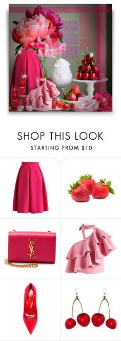 """Fruits & Flowers! - Contest!"" by asia-12 ❤ liked on Polyvore featuring Chicwish, Yves Saint Laurent, Sergio Rossi and Ray-Ban"