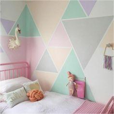 Idee Muster: Dreiecke in unterschiedlichen Größen und Farben