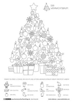 Through the year - Christmas Christmas tree - Lubbersen - Through the year - We . - Throughout the year – Christmas tree – Lubbersen – Throughout the year – Christmas tree – - Christmas Games, Noel Christmas, Christmas Activities, Christmas Printables, Christmas Colors, Christmas Projects, Winter Christmas, Christmas Decorations, Hidden Pictures